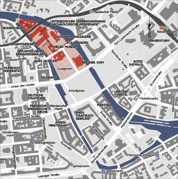 Map of Museum Island