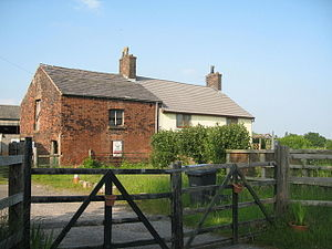 English: Lunt's Bridge Farm, Widnes Lunt's Bri...