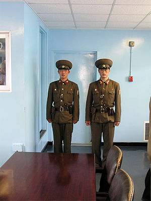 North Korean soldiers in the Joint Security Area.