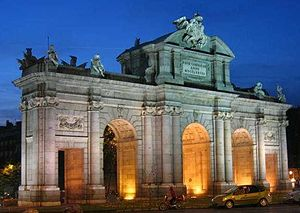 Puerta de Alcalá in Madrid, was designed and b...