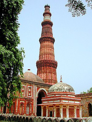 Qutab Minar in Delhi, India