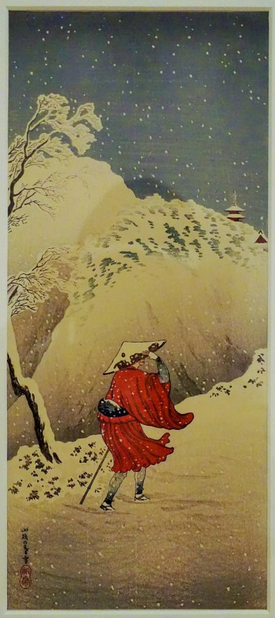 """Figure with Snow Falling"" by Takahashi Hiroaki"
