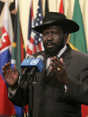 Salva Kiir Mayardit, President of the Governme...