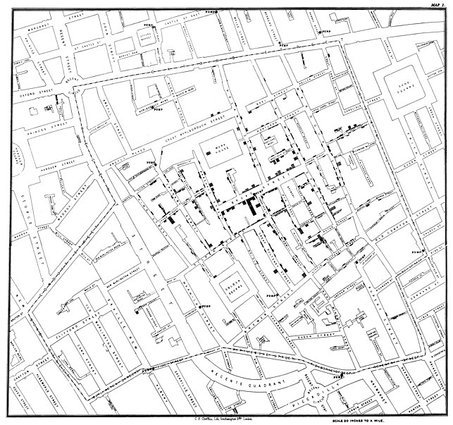 John Snow Cholera Map from Wikipedia