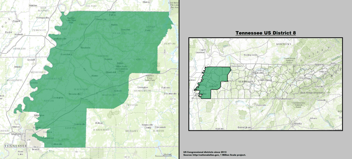 Tennessee s 8th congressional district   Wikipedia