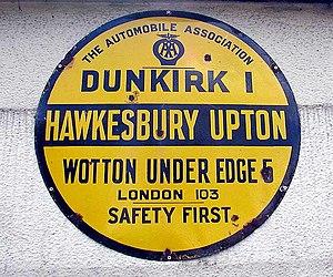 AA village sign, Bristol, England