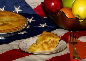 English: Apple pie.