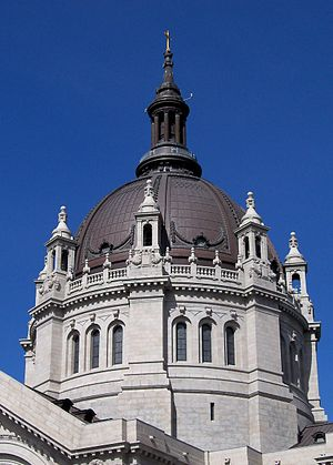 Dome of the Cathedral of Saint Paul in St. Pau...