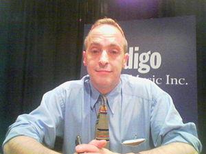 English: David Sedaris at a talk in Ontario.