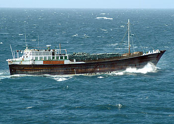 A modern dhow suspected of piracy