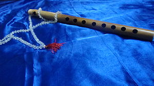 English: An eight holed Indian classical flute