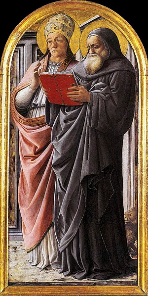 Fra Filippo Lippi - Sts Gregory and Jerome - W...