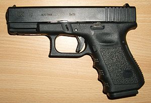 Compact Glock 19 in 9x19mm Parabellum.