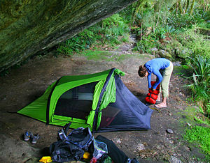 setup of NEMO Morpho inflatable airbeam tent i...