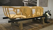 Replica of the body frame from the Volvo ÖV 4 car, made primarily from ash wood