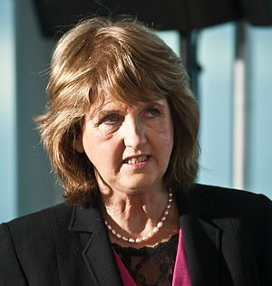 Crop of Joan Burton at launch of the Labour Pa...