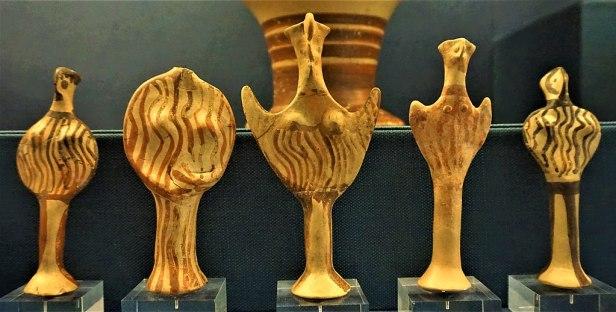 Mycenaean Female Figurines of 'Phi' and 'Psi' Type - Benaki Museum, Athens - Joy of Museums