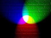 Ejemplo con focos luminosos de mezcla aditiva de colores primarios. Artículo principal: Síntesis aditiva de color