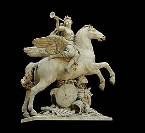 Fame Riding Pegasus (1702) by Antoine Coysevox...