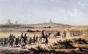 English: Timbuktu seen from a distance by Hein...