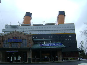 Titanic museum entrance at Pigeon Forge, Tennessee