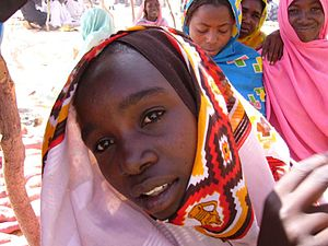 Women at Darfur refugee camp in Chad