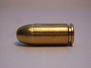 .380 ACP pistol cartrdige. FMJ bullet. Manufac...