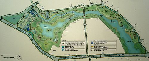 masterplan map of the adayar eco creek park on the adayar river backwater