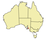 Location of Adelaide within Australia