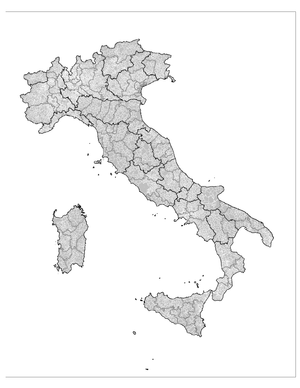 Administrative divisions of Italy Regions (bla...