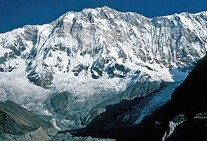 Annapurna I. from about 4500 m Deutsch: Annapu...