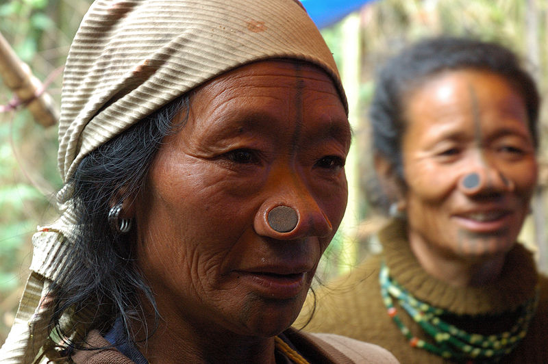 Tribal Women with Funny Nose Piercings