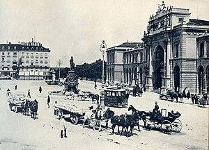 Bahnhofplatz Zürich ca. 1900