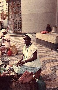 Baiana do acarajé Farol da Barra, 1976, Salvador.