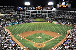 The Ballpark in Arlington home of the Texas Ra...