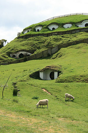 We stopped to visit the Hobbits in Matamata