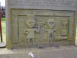 Death and Resurrection. Detail of a particular...
