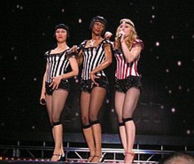 Madonna And Her Dancers Performing A Slow Version Of Deeper And Deeper During The Re Invention World Tour