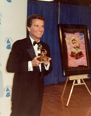 Dick Clark backstage during the Grammy Awards ...