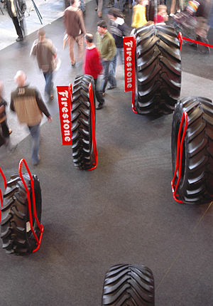 Different types of tyres for tractors (or othe...