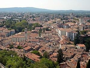 View of the town of Gorizia (Gorica) in Friuli...