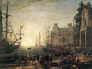 Seaport: Claude Lorrain, 1638.