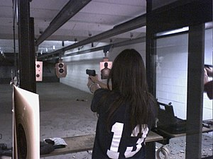 A shooter at the Scottsdale Gun Club in Scotts...