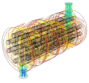 A rendering of a set of fluid flow lines from ...