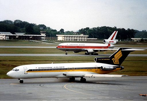 Singapore Airlines Boeing 727 Martin
