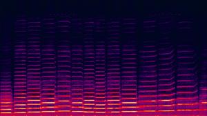 Spectrogram of violin playing.