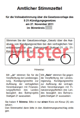 Muster Volksabstimmungszettel S21
