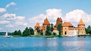 Island castle of Trakai, Lituania Français : L...