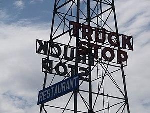 Truck Stop sign, Van Horn, Texas