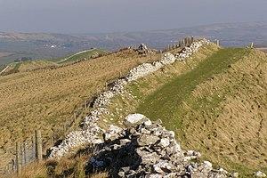 English: View along the Ridge, Tyneham Cap Thi...